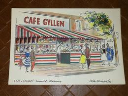 POSCARD DANMARK Café GYLLEN Köbenhavn. Norrevold 2 - Eneret Weinrich & Stormlund - Danimarca