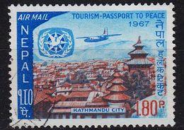 NEPAL [1967] MiNr 0217 ( O/used ) Flugzeug - Nepal