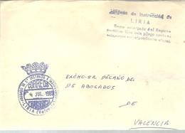 CARTA   1989  LIRIA - Franquicia Postal