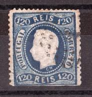 Portugal - 1867/70 - N° 33 (CW) Oblitéré - Louis 1er - Coupé En Bas - 1862-1884 : D.Luiz I