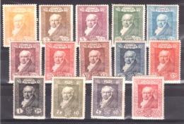 Espagne - 1930 - N° 412 à 422 + 426 à 428 - Neufs * - Goya - Neufs
