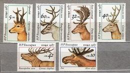 BULGARIA 1987 Fauna Animals Deers MNH(**) Mi 3574-3579 #24117 - Timbres