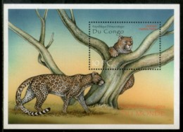 Congo Zaire 2000 Leopard Big Cat Wildlife Animal Fauna Sc 1519 M/s MNH # 13436 - Democratic Republic Of Congo (1997 - ...)