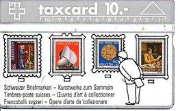 Stamp Timbre Poste  Télécarte Suisse Taxcard Phonecard  (G 102) - Timbres & Monnaies