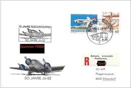 Schweiz Suisse 1990: R-Brief Mit AUTOPOST-o 25.8.89 50 JAHRE JU-52 / 75 JAHRE FLIEGERTRUPPEN - Poste Aérienne