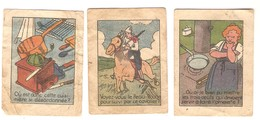 Apéritif Premier Fils 3 Images Devinettes Cow-boy, Peau-rouge, Cuisinière, Omelette - Autres