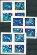 Bhutan (1967) Yv. Bf. 27/29 /  Espace - Space - Planet - Astronaut - Spaceship - Satellite - Unusual 3D - Espacio