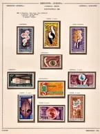 EUROPAFRICA 1963 I° E 2° EMISSIONE POSTA AEREA 1963-64 SERIE COMPLETE NUOVE MNH - Emissions Communes
