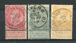 Belgien Nr.67/9        O  Used       (918) - 1884-1891 Leopold II.