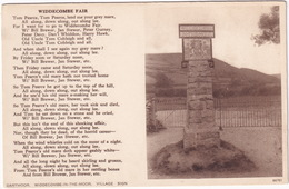 Widecombe In The Moor - Widdecombe Fair ; 'Tom Pearce, Tom Pearce' - Village Sign - (Dartmoor) - Andere