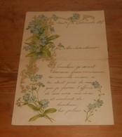 Très Jolie Lettre. Motifs Fleuris. 1907. - Manuscrits
