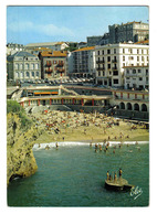 64 Biarritz N°4685 Plage Du Port Vieux Hôtels En 1969 Hôtel Beau Lieu Peugeot 404 Renault 4L Simca Ariane - Biarritz