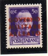 OCCUPAZIONE ANGLO-AMERICANA NAPOLI 1943 CENT. 50c MNH - Anglo-american Occ.: Naples
