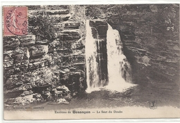 ENVIRONS DE BESANCON . LE SAUT DU DOUBS . CARTE AFFR SUR RECTO LE 3 MARS 1906 - France