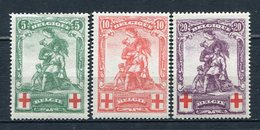 Belgien Nr.104/6        *  Unused       (923) - 1914-1915 Rotes Kreuz