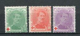 Belgien Nr.107/9        *  Unused       (924) - 1914-1915 Rotes Kreuz