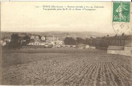 Tence Vue Generale Prise Du Nord Ouest Et Route D Yssingeaux - France