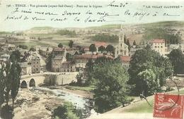 Tence Vue Generale Pont Sur Le Lignon - France