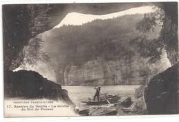FRONTIERE FRANCO SUISSE .17. BASSINS DU DOUBS . LA GROTTE DU ROI DE PRUSSE  . ECRITE LE 23-1-1918 - France