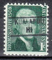 USA Precancel Vorausentwertung Preo, Locals Hawaii, Kualapuu 841 - Vereinigte Staaten