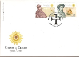 Portugal & FDC 700 Years Of The Order Of Christ Foundation 2019 (3422) - Enveloppes