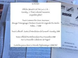 Kanaky : 1 Affiche, 2 Tracts, 2 Articles Du Monde Diplomatique & 1 Document - Journaux - Quotidiens