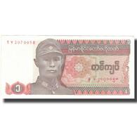 Billet, Myanmar, 1 Kyat, Undated (1990), KM:67, SUP+ - Myanmar