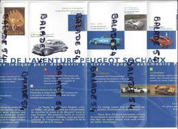 Dépliant Publicitaire Musée De L'aventure PEUGEOT - SOCHAUX (vélo, Voitures....) - Werbung
