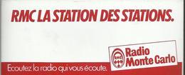 Autocollant - RMC La Station Des Stations - Radio Monte Carlo - Autocollants