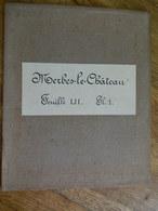 MERBES LE CHATEAU   +MILITARIA:TRES RARE CARTE MILITAIRE DE MERBES LE CHATEAU ET ENVIRONS -1860-1870 - Documents
