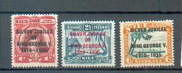 A 87 - NIUE - YT 56 à 58 * Charnières Complètes - Niue