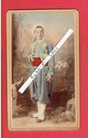 TIRAILLEUR ALGERIEN APRES 1884 PHOTOGRAPHIE COLORISEE CDV DE PROD HOM 1867 1950 PHOTOGRAPHE A BONE ALGERIE - Guerre, Militaire