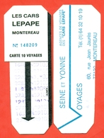 France 1989. City Montereau. Ticket For 10 Trips In The Bus. - Season Ticket