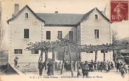 64-LOUVIE-JUZON- LA MAIRIE ET L'ECOLE- VALLEE D'OSSAU - Andere Gemeenten