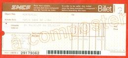 France 1989. City Paris. Ticket In The Railway Paris-Momtereau. - Railway
