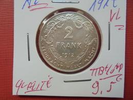 Albert 1er. 2 FRANCS 1912 VL ARGENT TTB+/SUPERBE - 1909-1934: Albert I