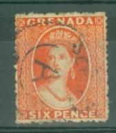Grenada: 1863/71   QV     SG7      6d   Orange-red  [Wmk: Small Star]   Used - Grenada (...-1974)