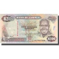 Billet, Zambie, 500 Kwacha, Undated (1991), KM:35s, NEUF - Zambia