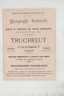Publicité 1879 Paris Photographie Universelle Truchelut - Publicités