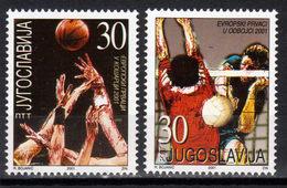 Yugoslavia,European Champions In Valleyball & Basketball 2001.,MNH - Ongebruikt