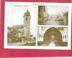 CPM .  BUFFARD .  LES ANNEES 1900....  L'EGLISE - LA MAISON COMMUNE ( Actuelle Mairie )   . CARTE NON ECRITE - France