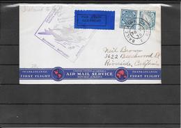 IRELAND 1939 Ffc To Riverside ,CA. Via New York ( Ref.901) - 1937-1949 Éire