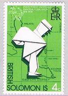 Solomon Islands 272 MLH Mailman And Map 1974 (BP30924) - Solomon Islands (1978-...)