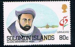 Solomon Islands 715 MNH Alvaro De Niera 1992 CV 1.60 (S0999) - Solomon Islands (1978-...)