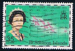 Solomon Islands 267 Used Map Of Solomon Islands 1974 CV 1.10 (S1001) - Solomon Islands (1978-...)