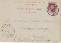 "ENTIER BELGIË Nr. 18 ""BINCHE  19 AOUT 1887"" Met Privaatopdruk / Repiquage ""CHARBONNAGE DE RESSAIX/EVENCE COPPEE/RESSAIX"" - Stamped Stationery"