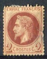 FRANCE ( POSTE ) Y&T  N°  26  DEFECTEUX , TIMBRE  NEUF  AVEC  TRACE  DE  CHARNIERE , GOMME D ORIGINE   . - 1862 Napoléon III