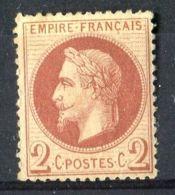 FRANCE ( POSTE ) Y&T  N°  26  TIMBRE  NEUF  AVEC  TRACE  DE  CHARNIERE , GOMME D ORIGINE   . - 1862 Napoléon III