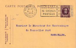 "ENTIER BELGIË Nr. 66 ""BRUXELLES 21.X.1923"" Met Privaatopdruk / Repiquage ""VEUVE DANIEL SABBE / BRUXELLES"" - Stamped Stationery"