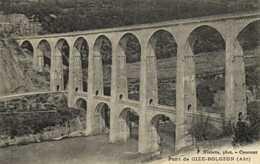 Pont De CIZE BOLOZON  ( Ain) RV  Timbre 30X Cachet Flamme Daguin St Claude - France